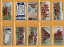 Tobacco cigarette cards Army Life 1910 set